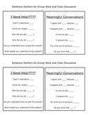 Sentence Starters for Group Work