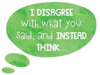 Accountable Talk Sentence Starters