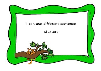 Sentence Starters for Narrative - Dyslexic Friendly - Full version