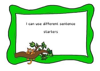 Sentence Starters for Narrative - Dyslexic Friendly - Full