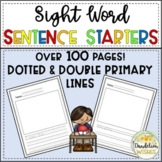 Sentence Starters with Sight Words for Primary Writing