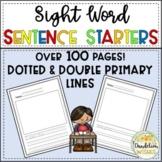 Sentence Starters for Pre-K and K
