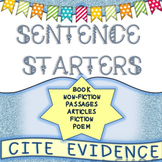 Sentence Starters for Text-Based Cite Evidence
