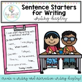 Sentence Starters for Writing *Writing Display*