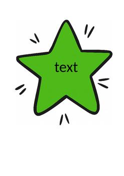 Sentence Starters on Stars