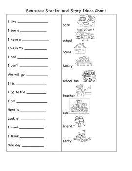 Sentence Stems, Structure, and Writing Templates - Opinion and Narrative Writing