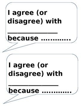 Sentence Stems (editable freebie)