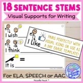 Sentence Stems with Visual Supports for Writing from Noodl
