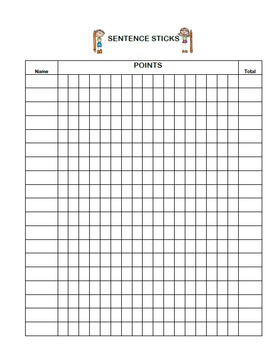 Sentence Writing- A Stick Activity for Grades 2 to 4 (Word Lists Included)