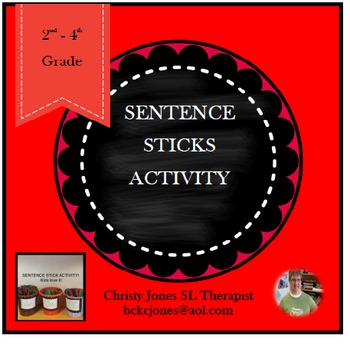 Sentence Writing- A Stick Activity for Grades 2 to 4 (Word