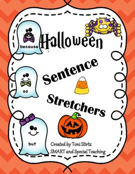 Sentence Stretchers For Halloween Scaffolding for Better Sentences Freebie