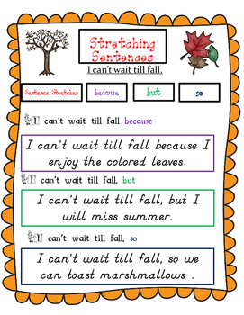 Fall Sentence Building (Hochman Writing)