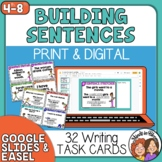 Sentence Stretchers Task Cards for Improving Sentences (Grades 4-8)