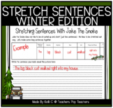 Sentence Stretching Activities with Jake The Snake:  Winter Edition