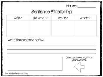 Sentence Stretching Freebie