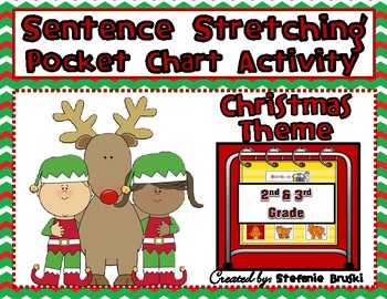 Sentence Stretching Pocket Chart Activity-Christmas Theme