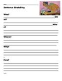Sentence Stretching Worksheet