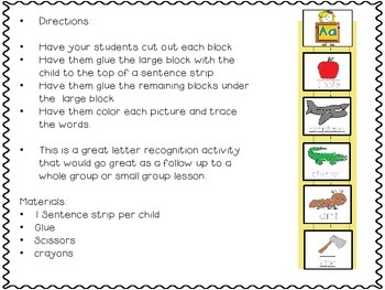 Sentence Strip ABC's