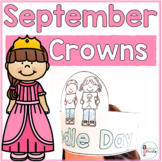 Sentence Strip Crowns_September