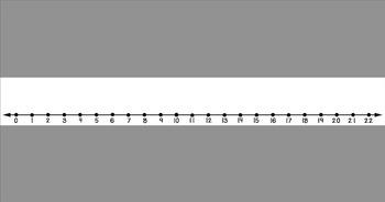 Sentence Strip Number Lines