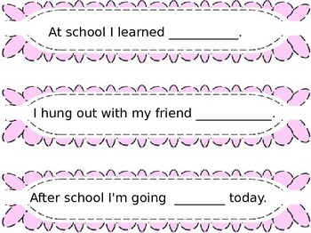 Sentence Strip Prompts