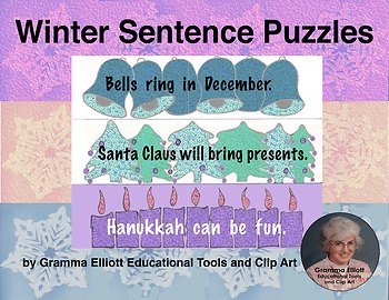 Sentence Strip Puzzles for the December Holidays