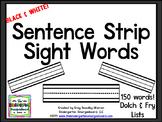 Sentence Strip Sight Words BLACKLINE