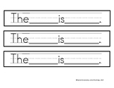 Sentence Strip Starters For Beginning Writers