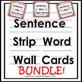 Word Wall Word Cards- Sentence Strip Format: BUNDLE 100+ words
