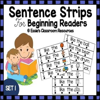 Sentence Strips For Beginning Readers - SET1
