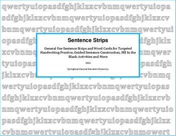 Sentence Strips-General Use