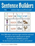 Sentence Strips - Over 1200 words all parts of speech rebus pictures and more!