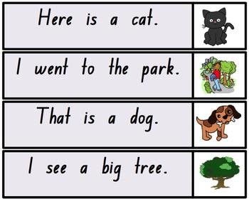 Sentence Strips for Beginning Readers