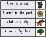 Sentence Strips for Beginning Readers