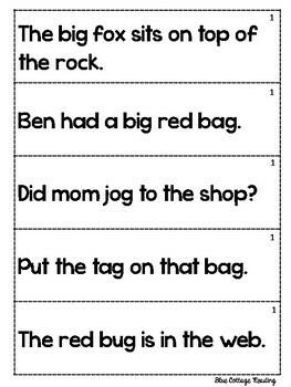 Sentence Strips for Fluency