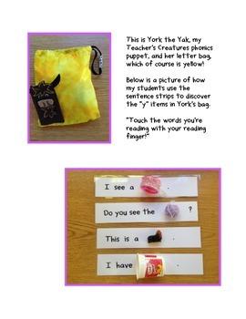 Sentence Strips for Letter Bag Items