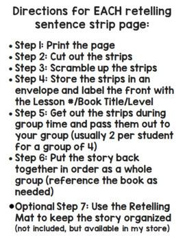 [DOUBLE BUNDLE] Sentence Strips for Retelling GREEN and BLUE LLI Kits