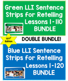 [DOUBLE BUNDLE] Sentence Strips for Retelling GREEN and BLUE LLI Kits