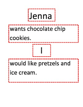 Sentence Strips for Subject and Predicate PowerPoint