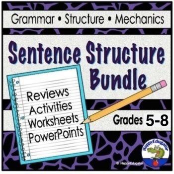Sentence Structure Teaching Resources BUNDLE