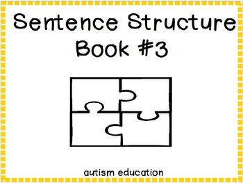 Sentence Structure #3 - Adapted Book/File Folders