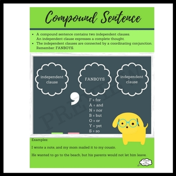 Sentence Structure for Compound and Complex Sentences