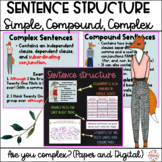 Sentence Structure Simple, Compound, and Complex Sentences