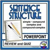 Sentence Structure PowerPoint - Simple, Compound, Complex, and Compound-Complex