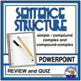 Sentence Structure PowerPoint - Simple, Compound, Complex, and Compound-Complex