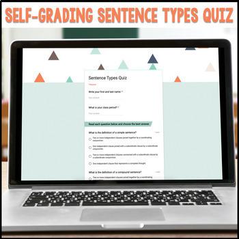 Sentence Structure Activities - Sentence Types Digital Activities