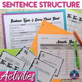 Sentence Structure Activities: Simple, Compound, Complex, Compound-Complex