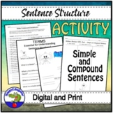 Sentence Structure Activity for Simple and Compound Sentences