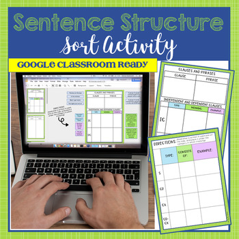 Sentence Structure Activity - Word Sort (Common Core Aligned