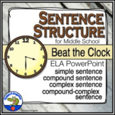 Sentence Structure Beat the Clock PowerPoint Game Distance Learning
